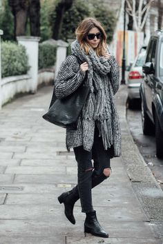 Layers are essential in Winter, in today's post here's a casual look, layering up some key knitwear pieces to keep warm but stylish