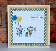 Lawn Fawn Beep Boop Birthday by KISS - Keep It Sweet and Simple