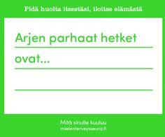 Mitä sinulle kuuluu? -kortit | Suomen Mielenterveysseura Historia