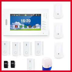2017 NEW 7 Zoll Touchscreen GSM Alarmanlage Hause Sicherheit Alarm Mit 868  MHZ For Free Shipping