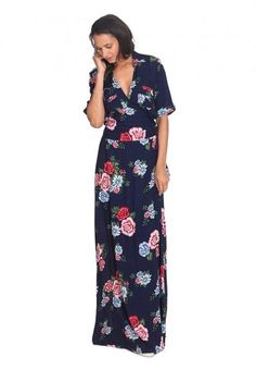 Ruby Rocks Vintage Floral Wrap Maxi Dress for Tall Women | Long Tall Sally USA