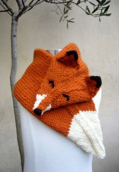 Handknit Fox Scarf от MissMartok на Etsy