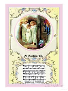 On Christmas Day, c.1885 Posters by Walter Crane at AllPosters.com