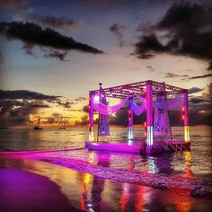 The people at Beaches Resorts definitely know how to set the stage for a beach party #BeachesMoms #myWOWmoment #beachesnegril #homeofallright . . . . #night #sky #sunset #clouds #ocean #water #lights #stage #beach #travelgram #travel #jamaica #negril #igt