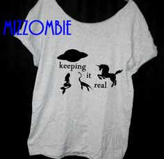 keeping it real unicorn loch ness mermaid ufo  loose by Mizzombie, $20.00