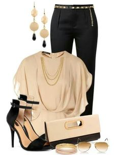 Black. Creme. Love this outfit