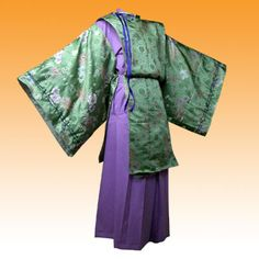 Another Formal Court Outfit Japanese Costume, Japanese Kimono, Traditional Fashion, Traditional Outfits, Court Outfit, Samurai Clothing, Heian Era, Cosplay Diy, Period Outfit