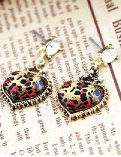 Pendientes corazón leopardo EUR€6.62