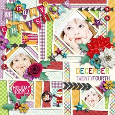 Very Merry Christmas | Elements, Wordbits, Papers, Journal Cards by Akizo Designs Crazy Squares #03 | Templates by akizo designs photo by photoxpress