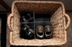 Shoe basket add a lid.