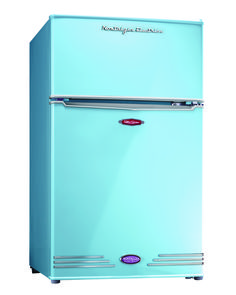 Blue Mini Fridge, Perfect for Dorm Room