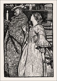 Byam Shaw – Othello // drawings for the Chiswick edition of Shakespeare, 1900