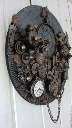 Часы для дома ручной работы. Заказать часы стимпанк (steampunk) -