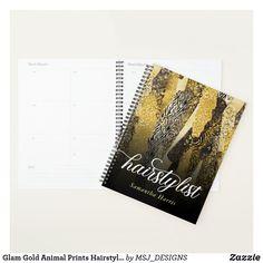 Glam Gold Animal Prints Hairstylist Planner