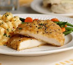 These southern buttermilk chicken breasts make your dinner deliciously simple!