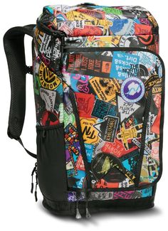 The North Face Kaban Transit Backpack TNF Red Sticker Bomb PrintTNF Black *** More info could be found at the image url. Sticker Bomb, It Goes On, Travel Backpack, Vera Bradley Backpack, Briefcase, Diaper Bag, The North Face, Backpacks, Red