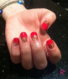 Wildfire CND Shellac with gold Irresistible Art glitter
