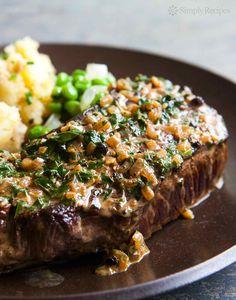 Peppercorn Steak ~ Classic Steak au Poivre, or steak with a creamy peppercorn… Grilled Steak Recipes, Grilled Meat, Beef Recipes, Cooking Recipes, Game Recipes, Cooking 101, Seafood Recipes, Sauce Au Poivre, Steak Au Poivre