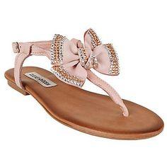 rhinestone bow sandals