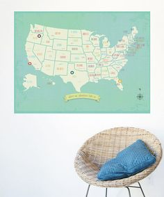 I want this in the playroom. USA map. CUTEness.