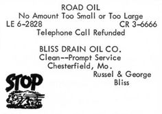 Russel Bliss was the  waste hauler who spread the DIOXIN (by product of manufactoring of AGENT ORANGE contaminated oil onto the gravel roads to cut down on dust.
