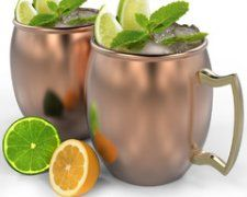 Win Set of 4 Copper Moscow Mule Mugs