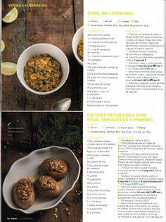 Revista bimby 2014 dezembro por Ricardo Fernandes Free Food, Free Recipes, Make It Simple, Beef, Cooking, Sweet Recipes, Green Lentils, Stuffed Potatoes, Turmeric Tea