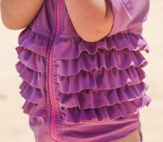 Ruffle Me Pretty - Girl Rash Guard Swimsuit Set #SwimZip