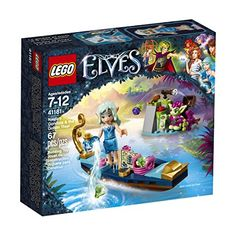 LEGO Elves Naida's Gondola & The Goblin Thief 41181 Building Kit (67 Pieces) - Join the exciting new adventures in Elvendale with Naida the water elf as she goes in search of rare ingredients and crystals in the unexplored Goblin forest. Ride the River in her gondola with a seat, basket with crystals, map and a compass. Defend the crystals from Goblin the Goblin on the Isla...