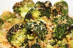 Oven Roasted Broccoli it was super yummy!  Oven roasted is the only way I eat broccoli. I haven't boiled broccoli in 2 -3 years!!!!!  I season it and use olive oil but I will be trying this recipe.
