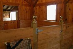 These low-stall walls maximize airflow and still look great. These would be ideal for Hawk Hill's barn.