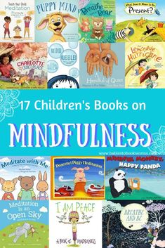 18 Mindfulness Books for Kids Teach kids to slow down, gain control and focus on their breathing with these 17 children's books on mindfulness and meditation! Teaching Mindfulness, Mindfulness Books, Meditation Books, Mindfulness For Kids, Mindfulness Activities, Mindfulness Practice, Mindfulness Benefits, Mindfulness Therapy, Mindfulness Training