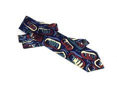 Vintage Abstract Necktie Silk tie Silk necktie Vintage tie