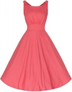 LindyBop šaty Ethel, korálové
