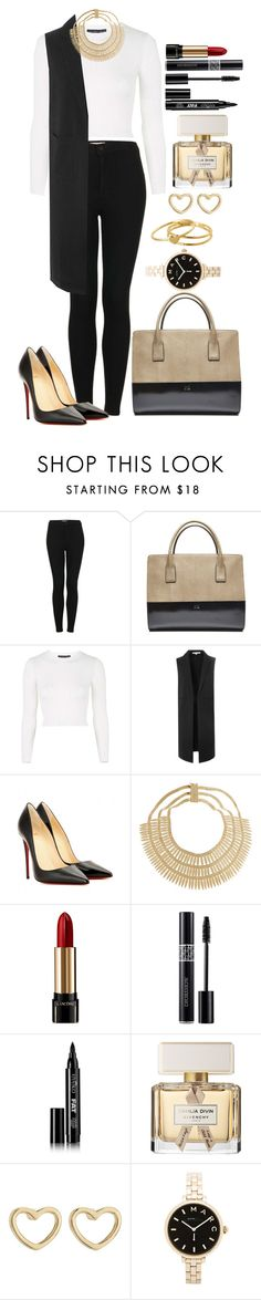 """Untitled #1293"" by fabianarveloc on Polyvore featuring Topshop, Glamorous, Christian Louboutin, Rosantica, Lancôme, Christian Dior, Eyeko, Givenchy, Marc by Marc Jacobs and Gorjana"