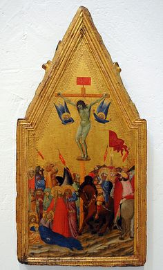 Crocifissione 1348 Fogg Art Museum, Harvard University, Cambridge, MA AMBROGIO LORENZETTI (Siena, ca. 1290 – Siena, 1348) #TuscanyAgriturismoGiratola