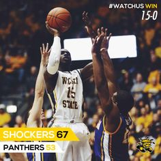 #WATCHUS WIN! The undefeated Shockers go a record-setting 15 straight; Wichita State-67, Northern Iowa-53. Jan. 5, 2014
