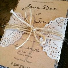 Rustic wedding invitation set by Innovative Events