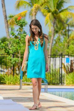 Turquoise Sunshine: Lilly Pulitzer Shift Dress