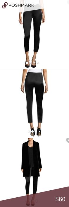 Lafayette 148 New York Women's Satin Black Pant New Lafayette 148 New York Women's Belle Satin Cloth Stanton Pant Black. Skinny and shiny, this sleek style is fitted to perfection.  * Bandless waist  * Side Zip Closure  * Back darts * Skinny fit * Split seams at ankles * 98 % acetate 2% elastane  * Dry clean Lafayette 148 New York Jeans Ankle & Cropped