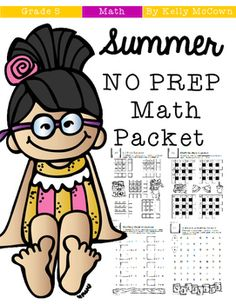 summer review no prep math packet 5th to 6th grade end. Black Bedroom Furniture Sets. Home Design Ideas