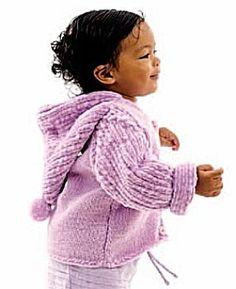 Free knitting pattern of Knit Sugarplum Cardigan Baby Cardigan Knitting Pattern Free, Knitted Baby Cardigan, Chunky Knitting Patterns, Cardigan Pattern, Knitting For Kids, Free Knitting, Baby Knitting, Crochet Baby, Clothes