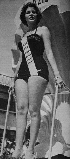 ► Miss Brasil 1954. Esta é a vencedora do primeiro Miss Brasil. VOCÊ SABE QUEM É?
