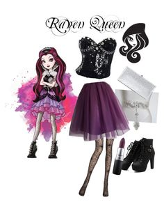 Designer Clothes, Shoes & Bags for Women Raven Queen, Queen Outfit, Evil Queens, Ever After High, Mac Cosmetics, Jimmy Choo, Skater Skirt, Polyvore, Stuff To Buy