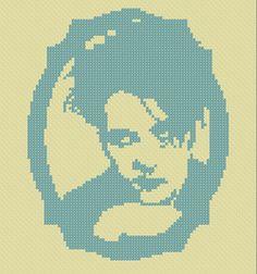 Free Robert Smith cross stitch pattern by Amanda DeLong - squee!
