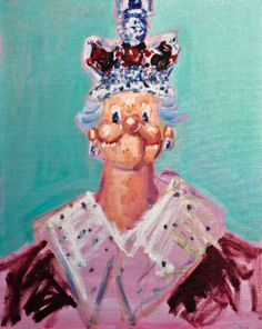 http://www.boumbang.com/condo-george/ © George Condo, Nightmares of the Queen, huile sur toile 2006