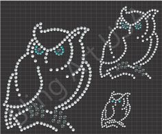Rhinestone Owl Files Template Animals Art Birds SVG PLT EPS PDF Fly Stone Stencil