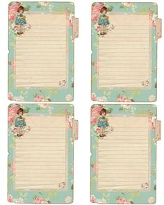 Free Spring Journal Cards