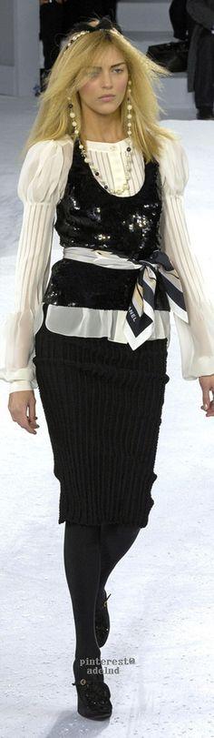 Chanel ~ Fall Black + White, 2007  via V