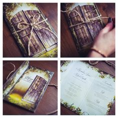 Secret garden magical invitation. An enchanted design that's gorgeous, rustic, intriguing and quirky.